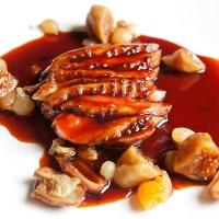 Magret de canard en sauce