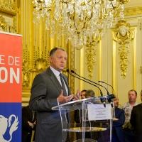Jean-Michel Aulas à l'hôtel de ville de Lyon